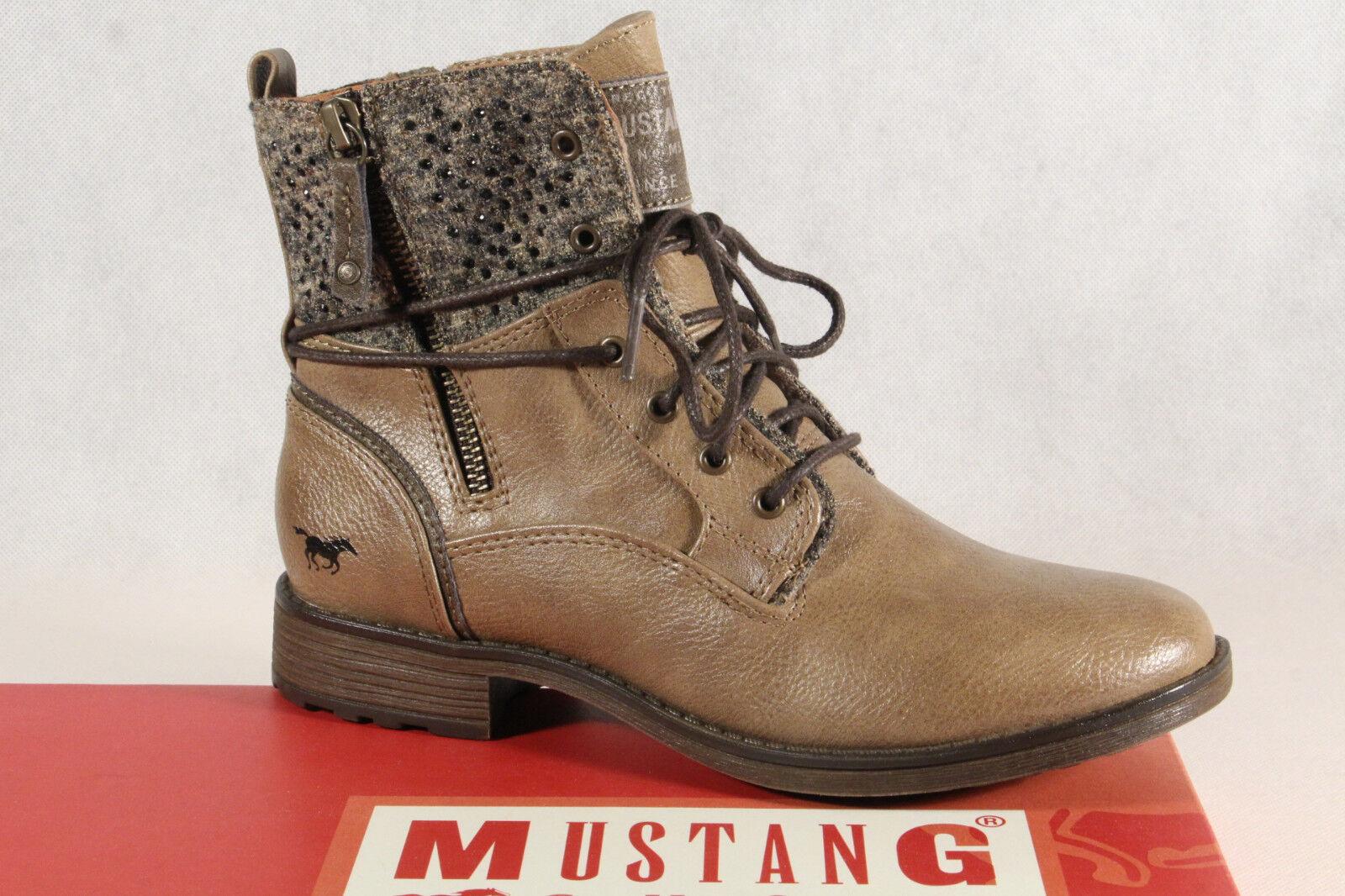 Mustang Stiefel Stiefeletten Schnürstiefel Boots braun taupe 1265 NEU!