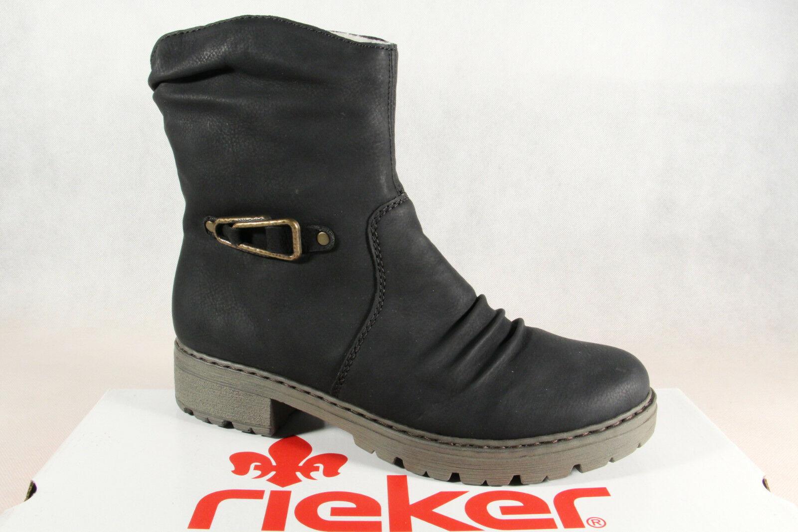 Rieker Stiefel Stiefelette Stiefel, Winterstiefel schwarz Y9061 NEU