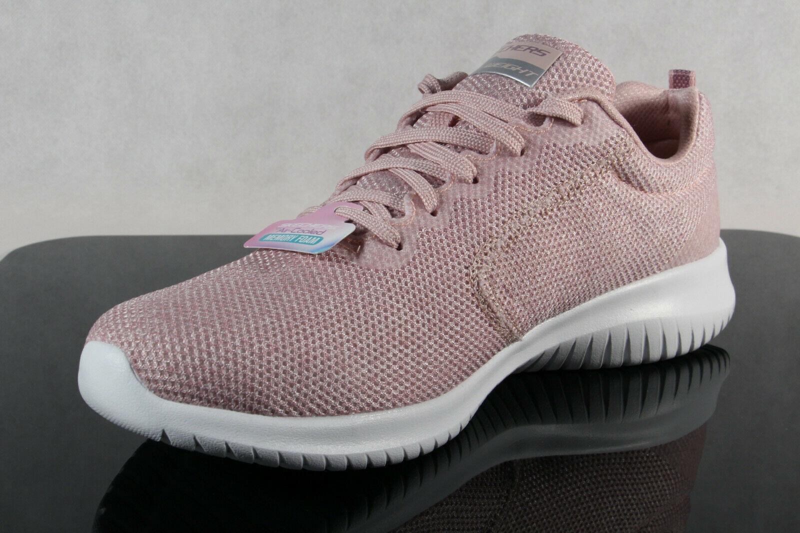Skechers Sneakers Schnürschuhe Sportschuhe Air Cooled Memory Foam rosé NEU!