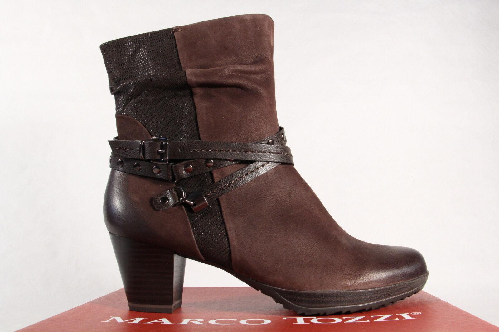 Marco Tozzi Damen Stiefel 25421 Stiefelette Boots Echtleder braun NEU!
