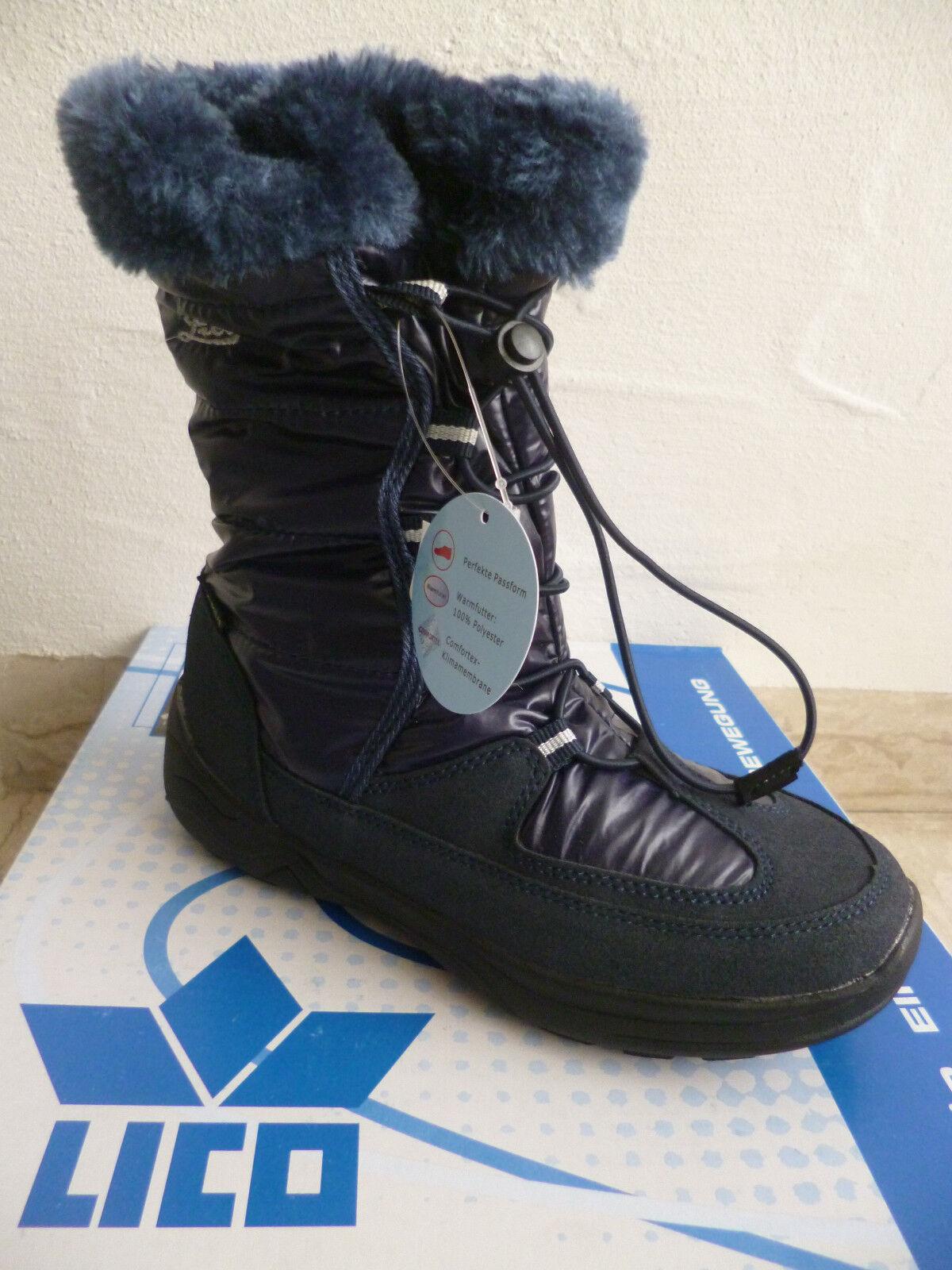 ziemlich cool heiß-verkaufender Fachmann hochwertige Materialien Lico Mädchen Stiefel Winterstiefel Boots blau wasserdicht NEU!!