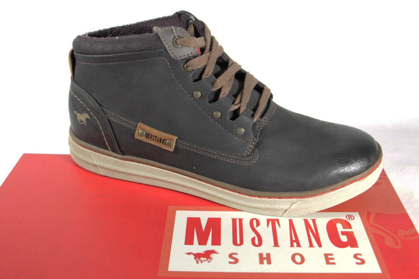 Mustang Stiefel Stiefel Schnürstiefel grau Stofffutter Wechselfußbett 4068 NEU