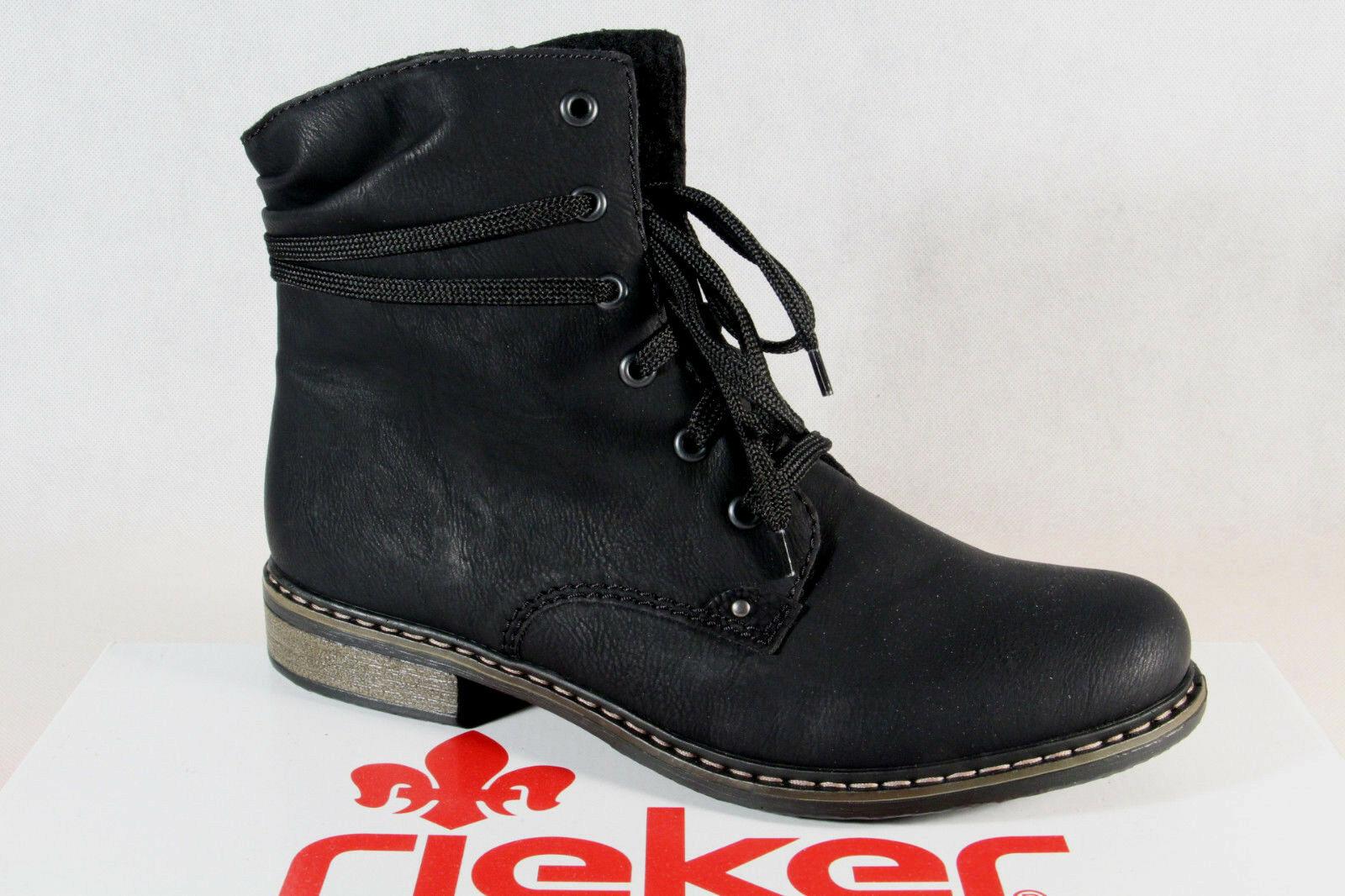 Rieker Damen Stiefel Stiefelette Stiefeletten Stiefel schwarz 71229 NEU