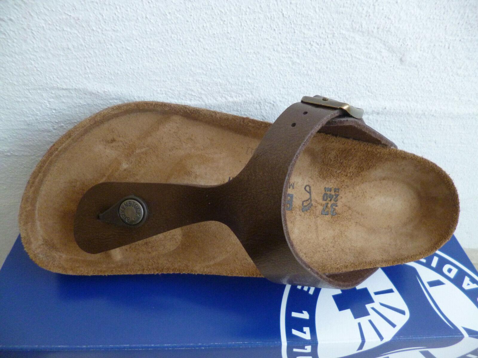 Birkenstock Gizeh Zehen Trenner Pantolette Sandale Toffee Braun 0845221 NEU!