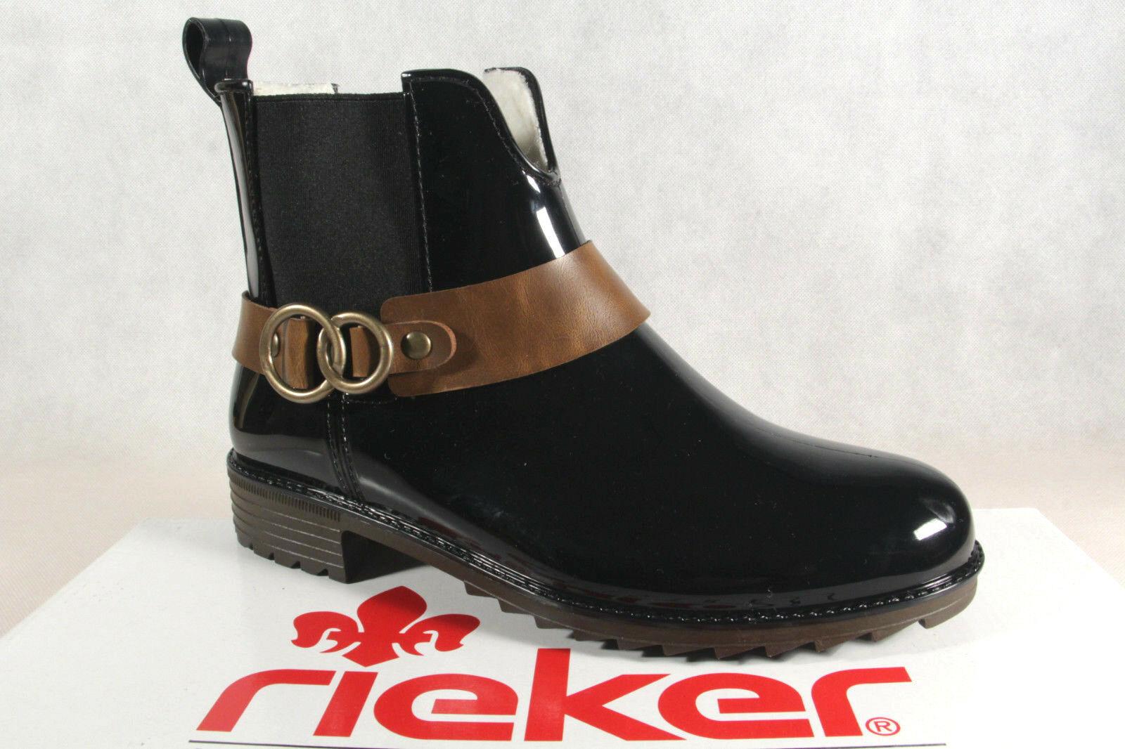 Rieker Stiefelette, Stiefel, Stiefel, Schlupfstiefel, schwarz, P8288 NEU
