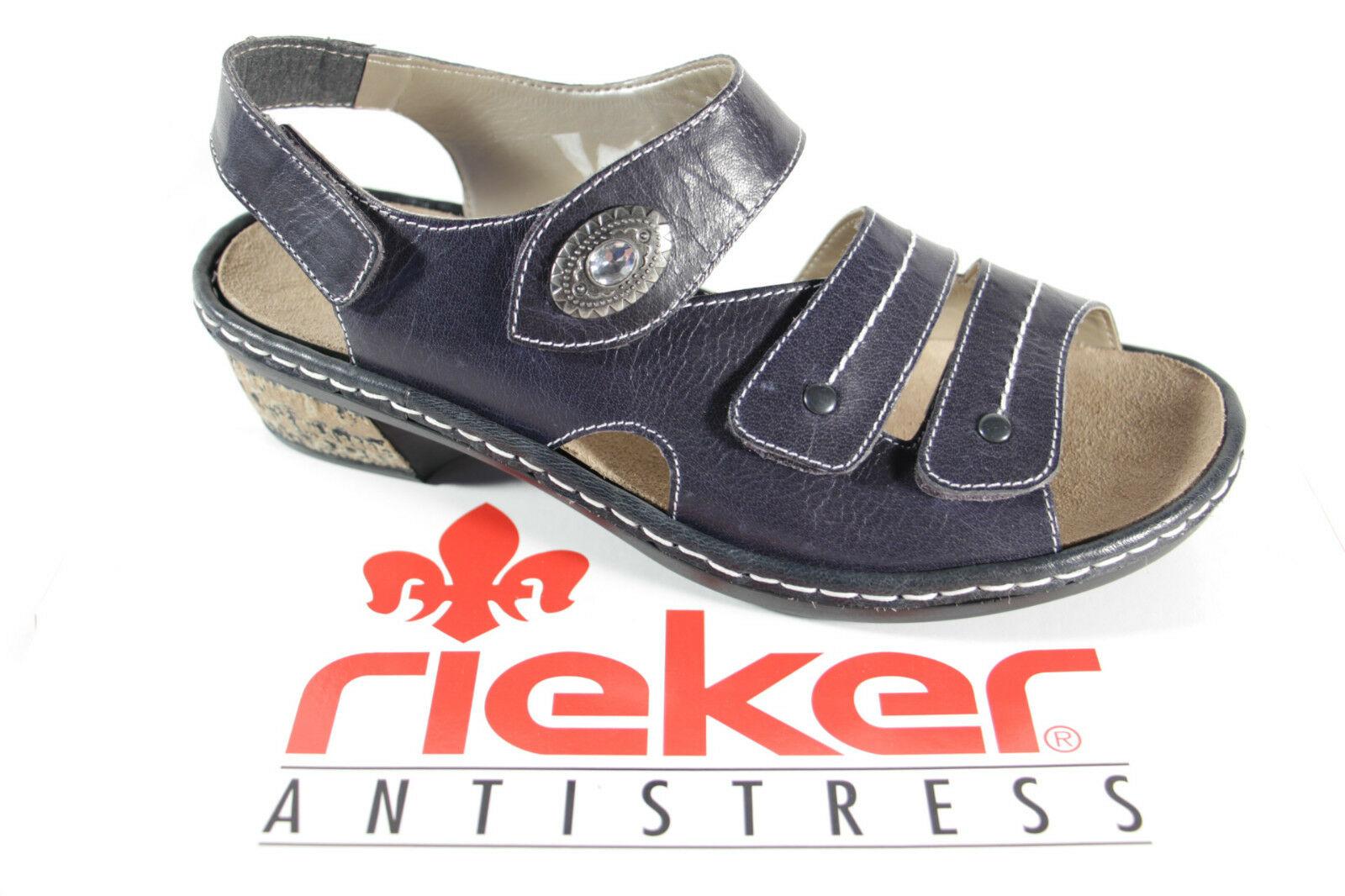 Lose Leder Blau Neu Damen Für Sandalen Einlagen Sandale Rieker Sandalette 0OwNP8nkX