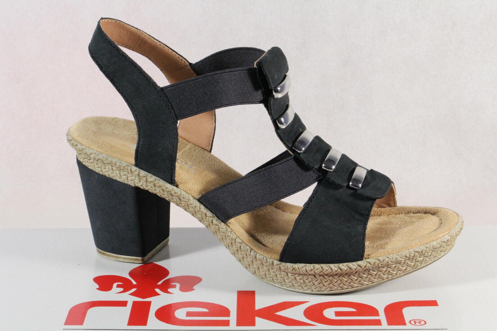 Rieker Sandale Damen blau Rieker in 2020   Leder, Blau und