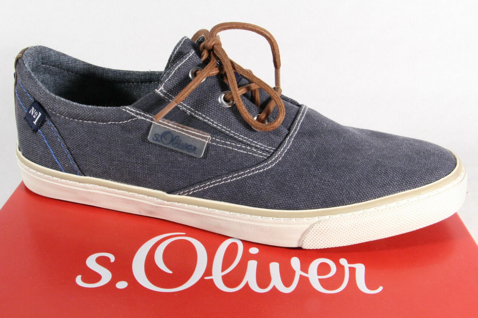 newest e8188 bedb3 s.Oliver Herren Sneakers Halbschuhe Schnürschuhe blau 13613 NEU