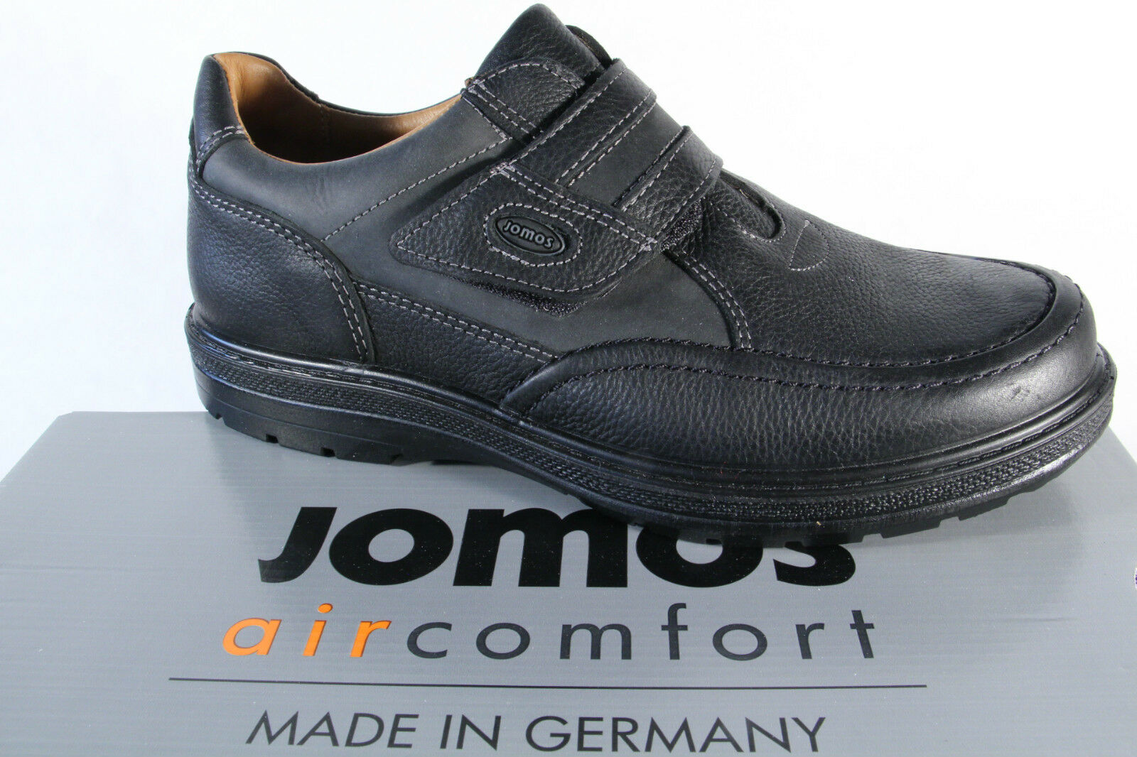 Jomos Slipper Slipper Slipper Halbschuhe schwarz Leder Wechselfußbett für Einlagen geeignet NEU 802a59