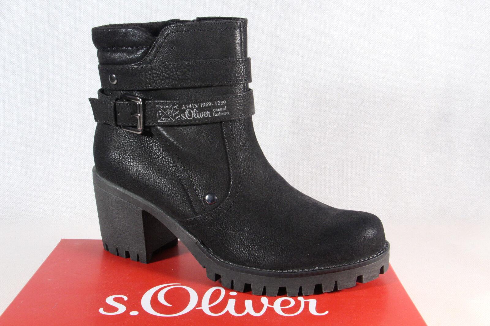 S.Oliver Damen Stiefel, Stiefelette, Stiefel schwarz 25426 NEU