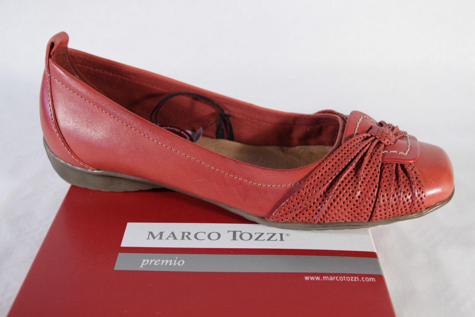 Marco Tozzi Damen Slipper, rot, Gummisohle, weiche Lederinnensohle NEU