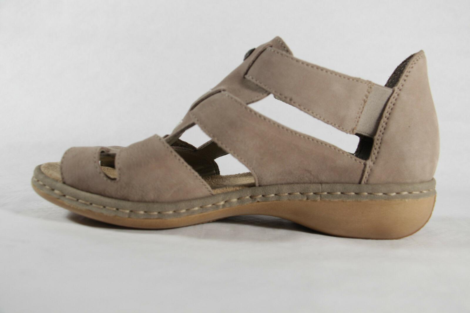 Rieker Damen Sandale, beige, Klettverschluß, weiche bnl1l