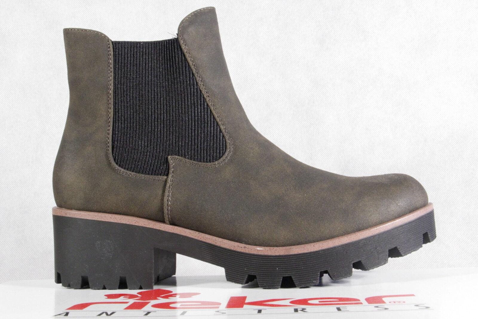 605c423d4a98ea Rieker Damen Stiefel Stiefelette Stiefeletten Boots grün 99254 NEU ...