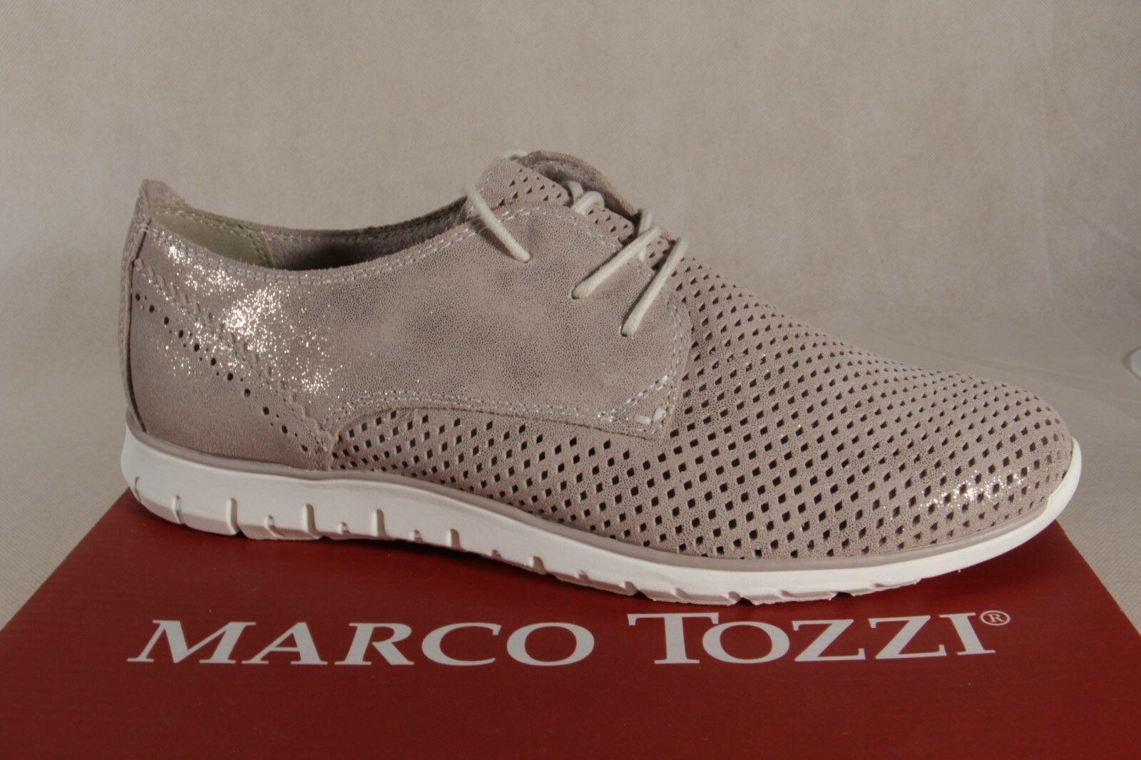 Marco Tozzi Schnürschuhe Turnschuhe Halbschuhe beige metallic 23728 NEU