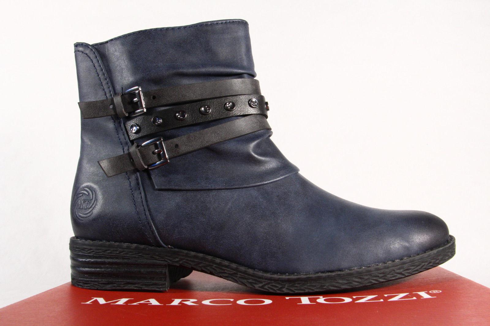Marco Tozzi Damen 25413 Stiefel Stiefeletten Schnürstiefel, Stiefel navy blau 25413 Damen NEU  45b589