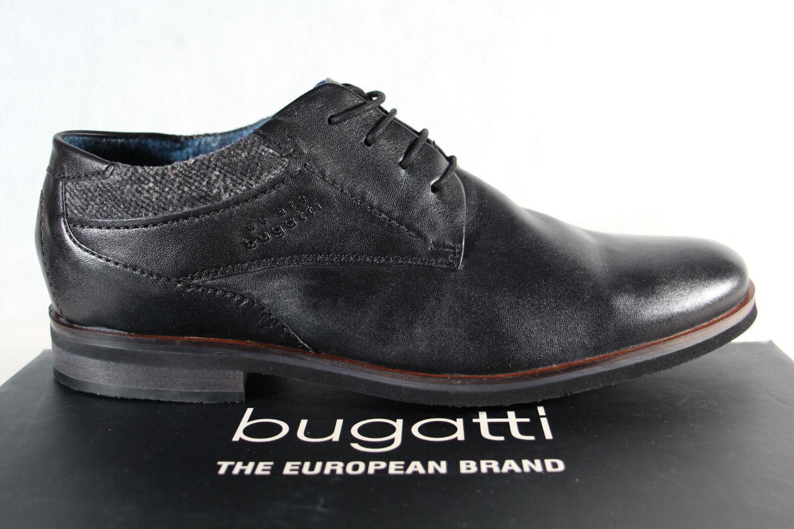 Bugatti Herren  Halbschuh schwarz