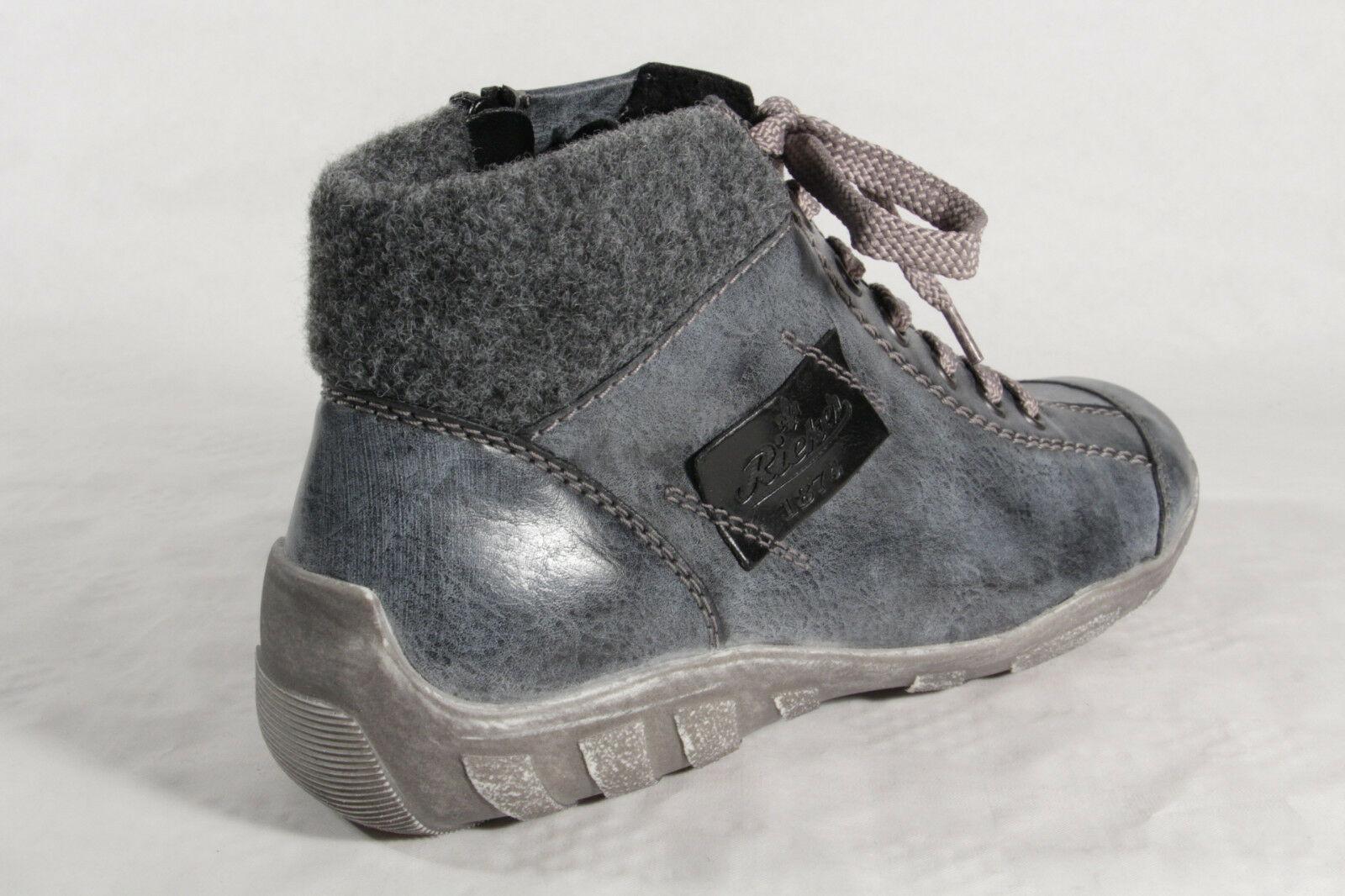 Rieker Schnürschuhe Damen Schnürschuhe Rieker Stiefel Stiefel blau L6540 NEU  b46678