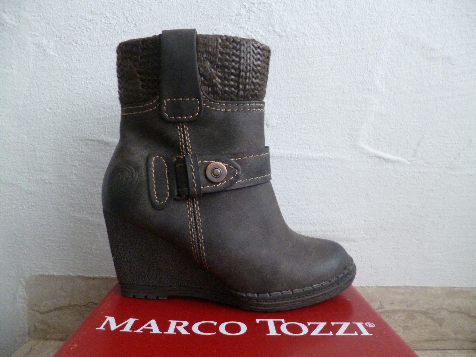 reputable site 47c2d 68dcc Marco Tozzi Damen Stiefel Stiefeletten Stieflette Boots Keilabsatz braun  NEU!