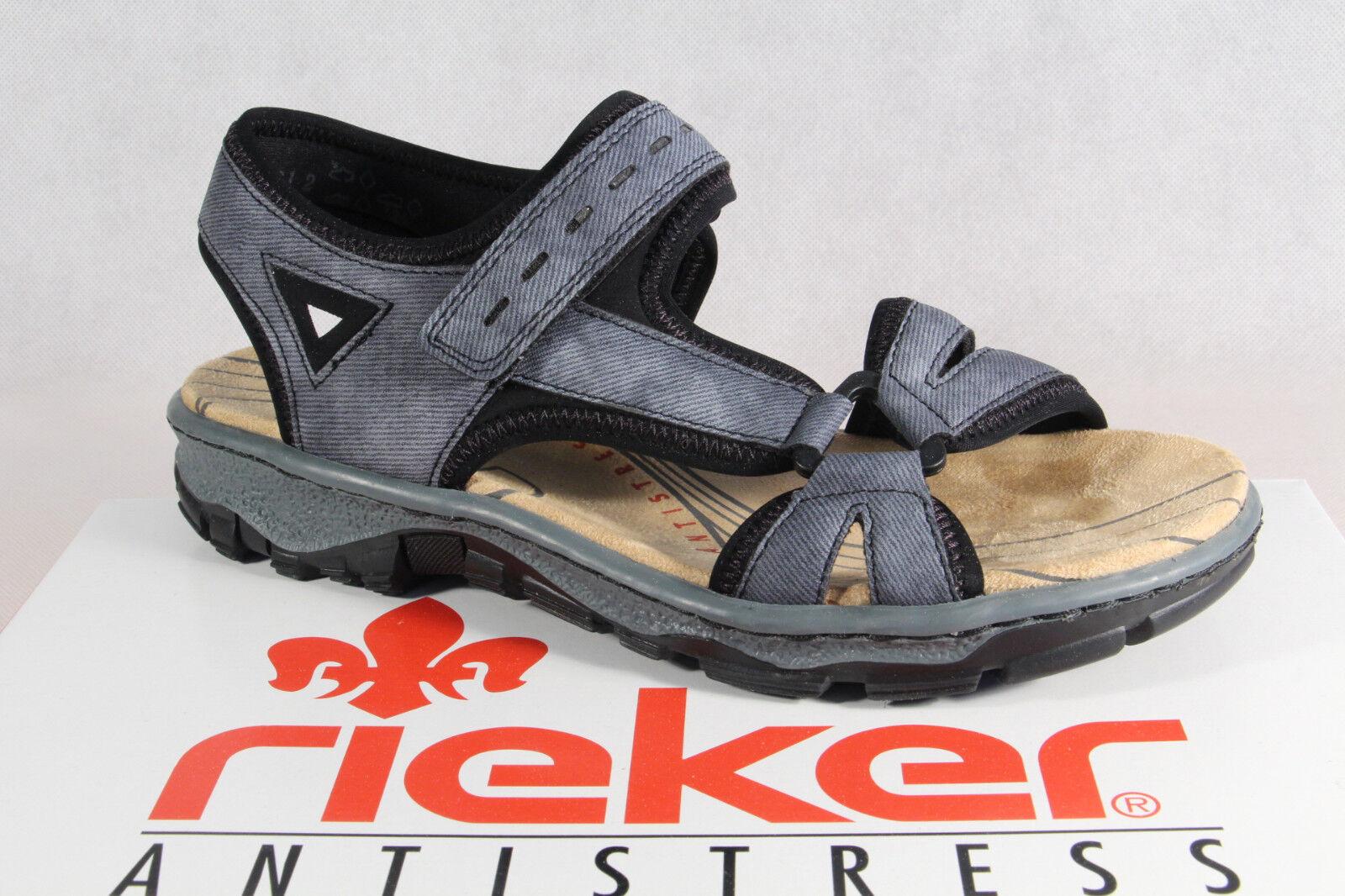 Rieker Damen Sandale Sandalette Sandalen blau 68879 NEU