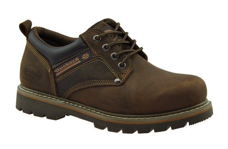 69f7322ade3008 Dockers Herrenschuhe Boots Leder Schuhe Halbschuhe Schnürschuhe braun NEU!