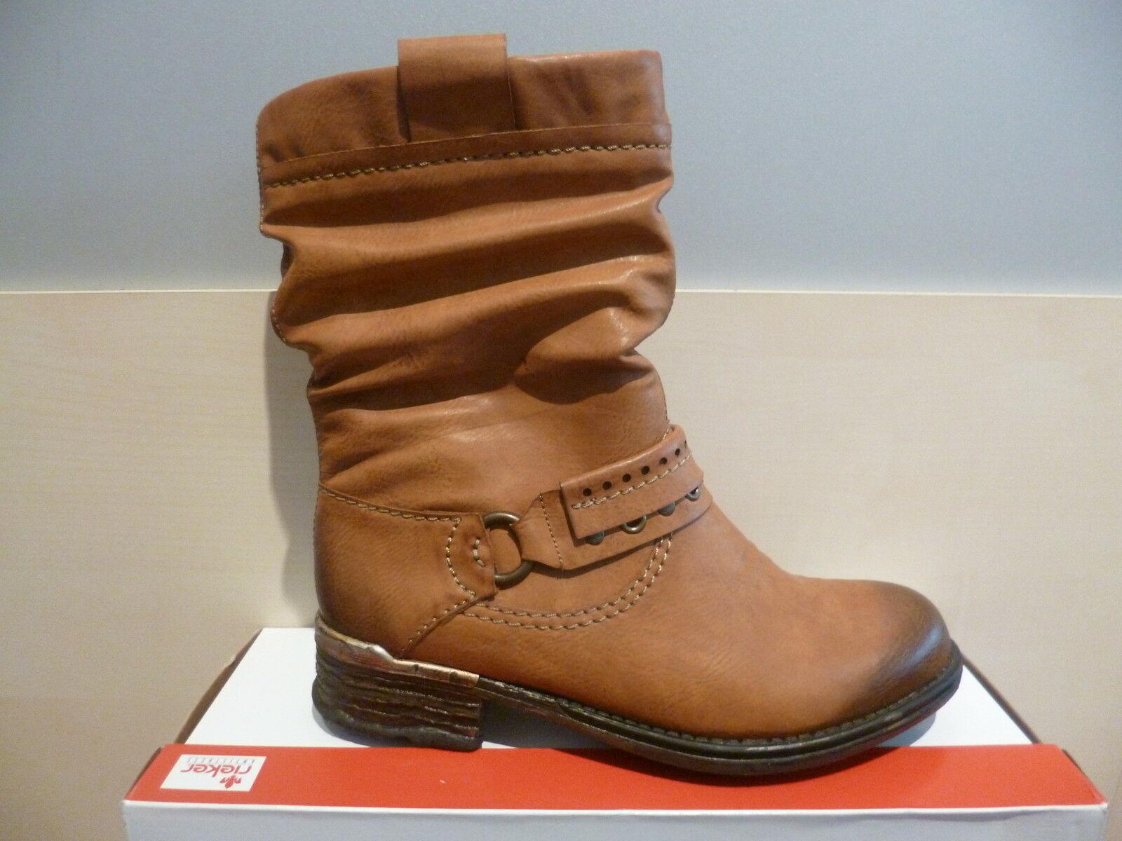e63b4610c32a Rieker Damen Stiefel Stiefeletten Winterstiefel Boots braun NEU 1 ...