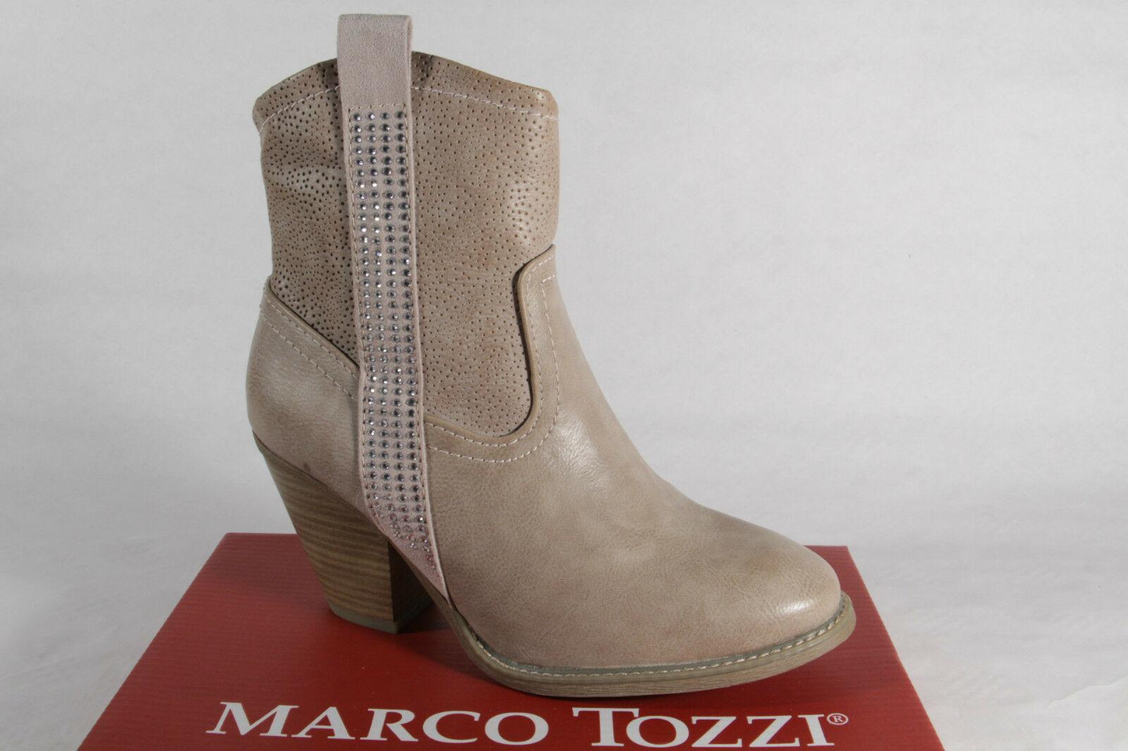 Marco Tozzi Stiefel, Stiefeletten, Stiefel Kunstleder beige, Reißverschluss NEU