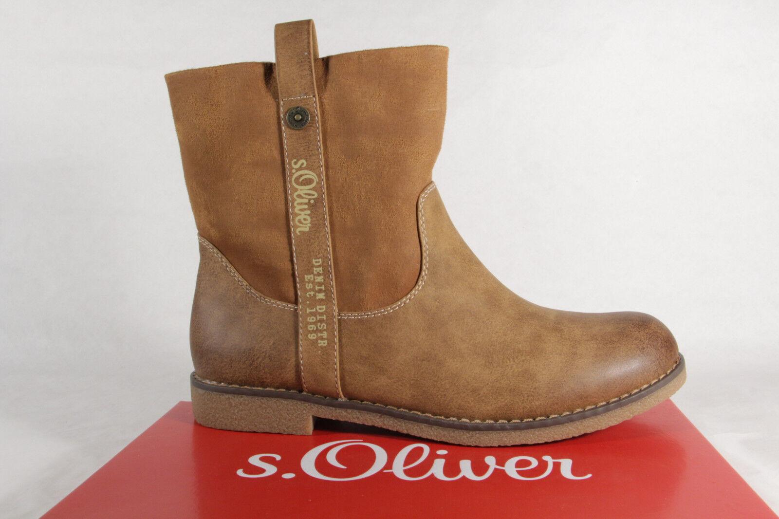 S.Oliver S.Oliver S.Oliver Damen Stiefel 26421 Stiefelette Stiefel natur braun NEU  36828a