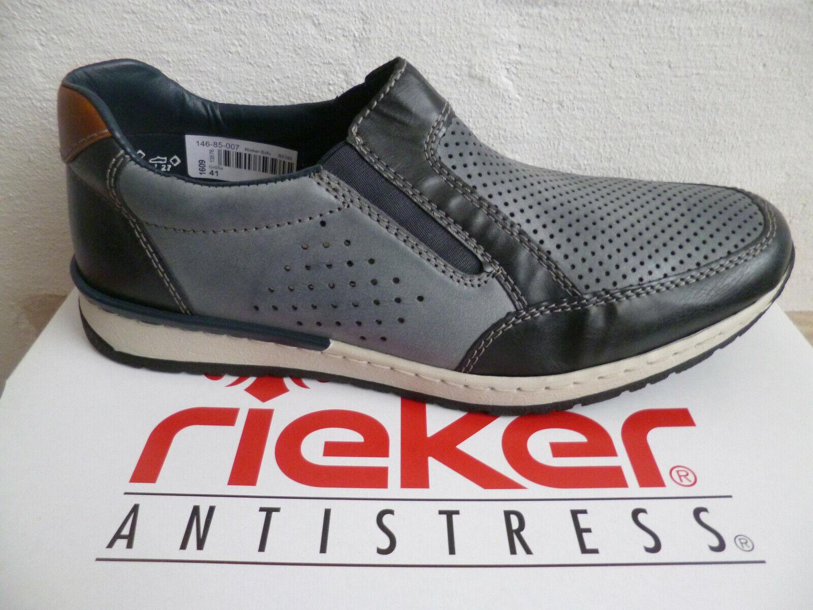 Rieker Herren Slipper Sneakers Sportschuhe Halbschuhe blau NEU