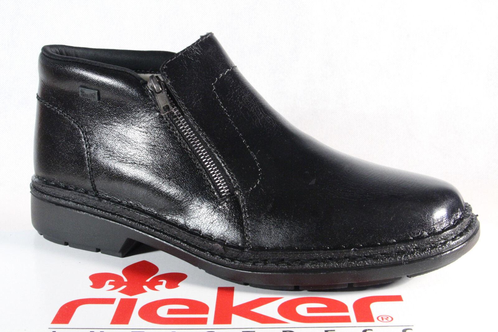 Rieker 05053 Schnürstiefel Stiefel Stiefelette EchtlederTEX schwarz NEU