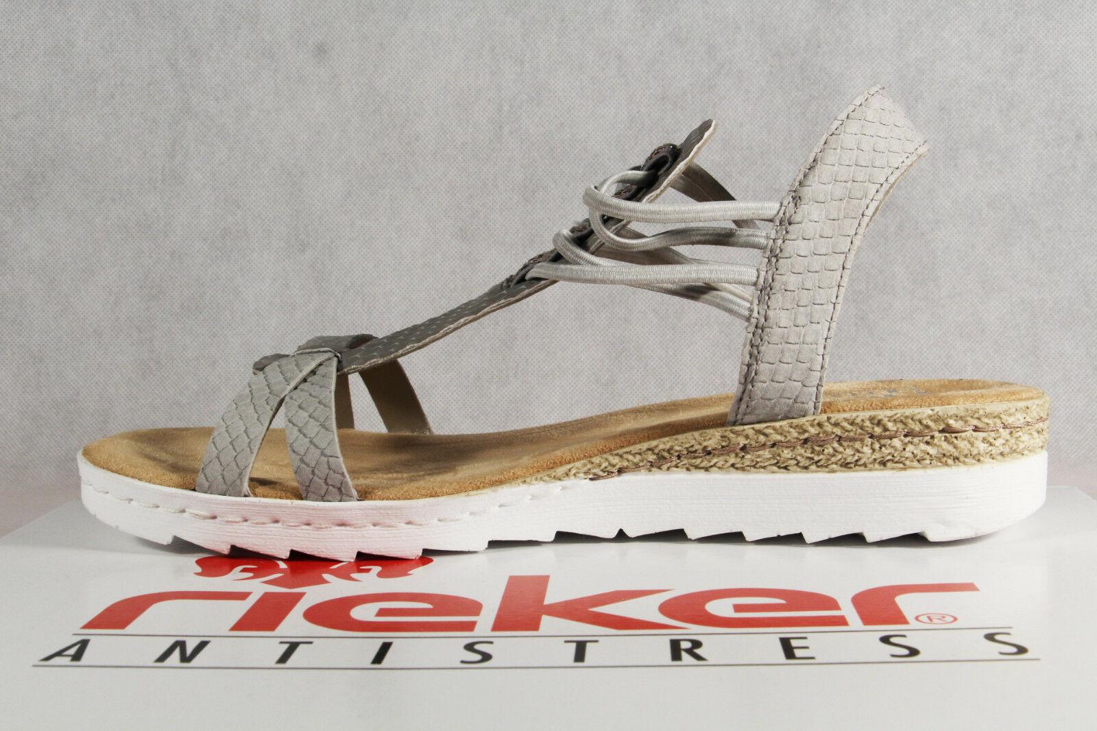 Rieker Damen Sandalen Sandale Sandalette grau 66506 NEU!!