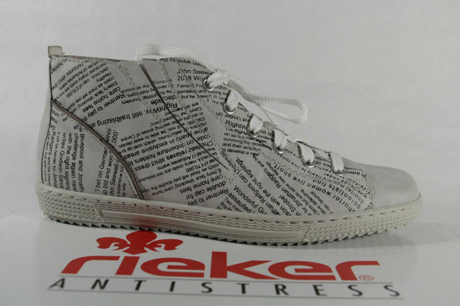 info for 17c5d 0da52 Rieker Damen Schnürschuhe Sneakers Halbschuhe ice (weiß), Wechselfußbett,  NEU!