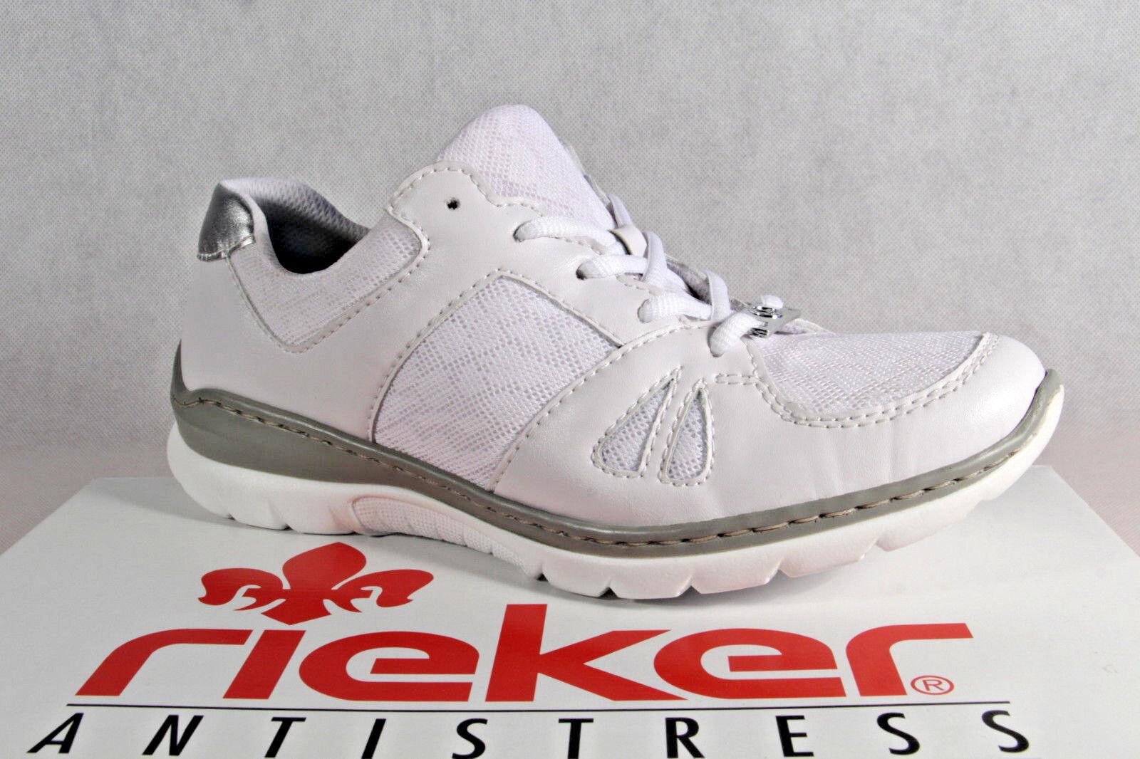Rieker Damen Schnürschuhe Sneakers Sportschuhe Halbschuhe weiß L3242 NEU!