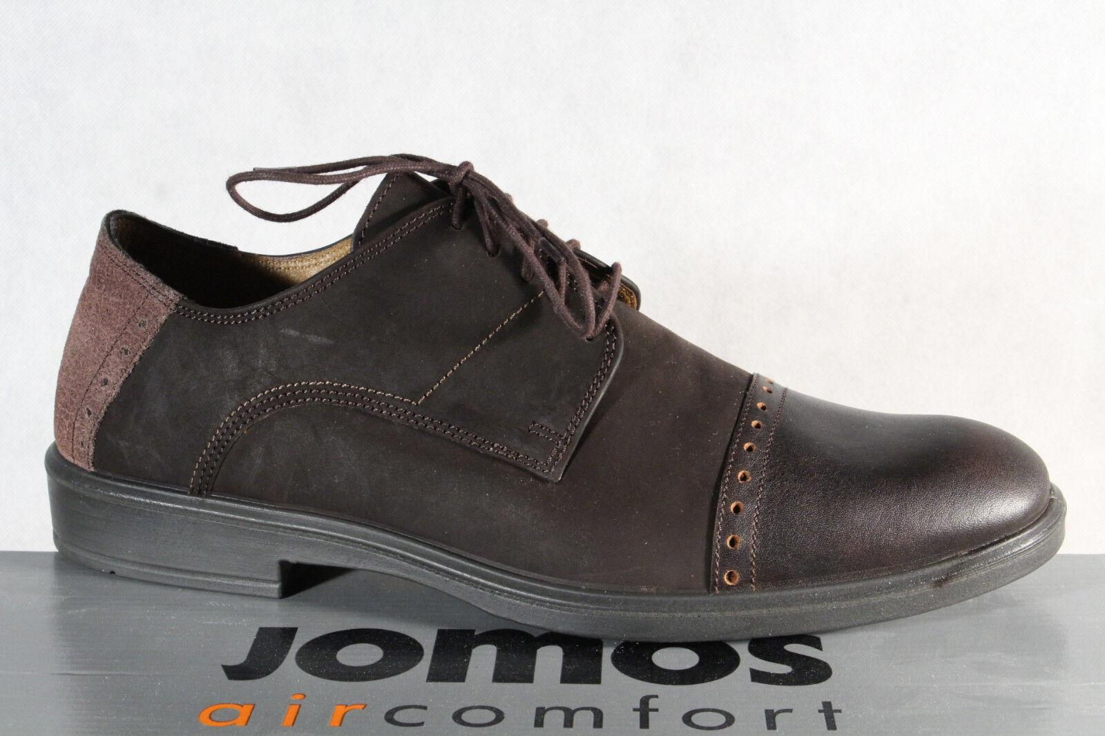 Jomos aircomfort Herren Schnürschuh 316216 Sneakers Halbschuh braun Leder  NEU