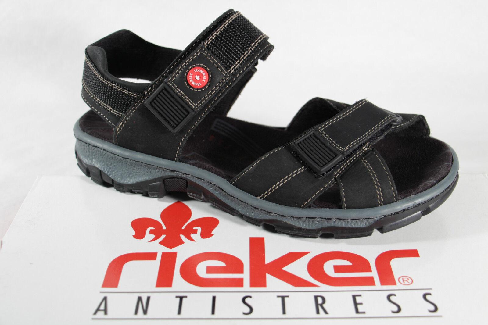 Rieker Damen Sandalen Sandaletten, schwarz, KV, weiches Innenfußbett 68851 NEU
