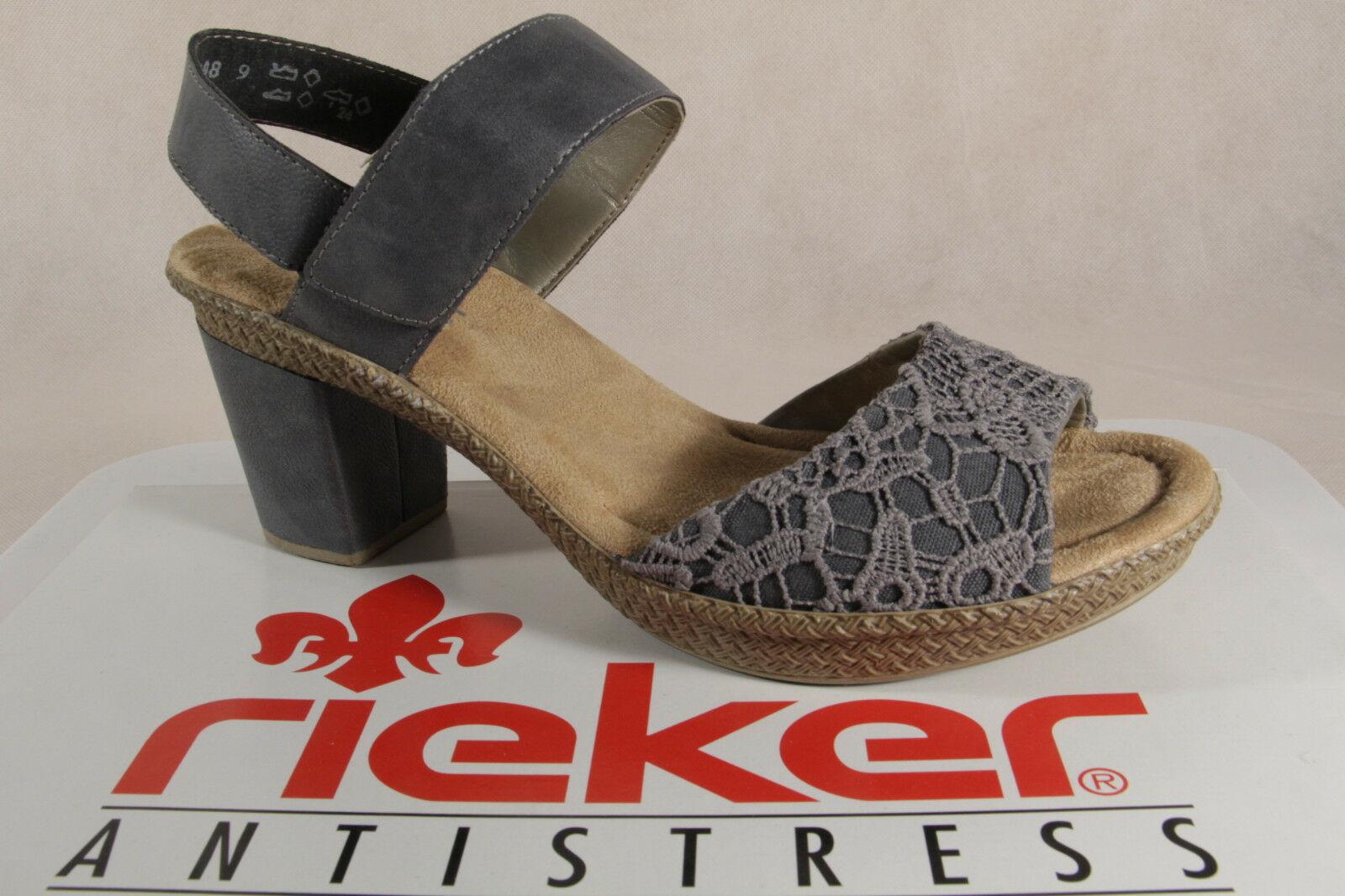Rieker Damen Sandalette in grau | Schuhfachmann