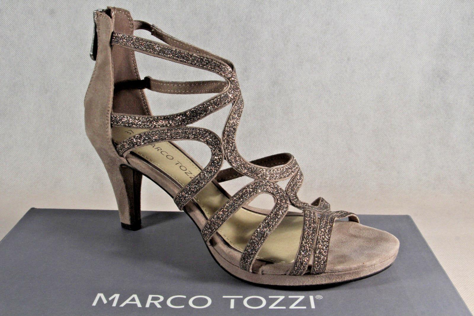Marco Tozzi Sandale Sandalen Sandalette Sandaletten taupe 28373 NEU!!