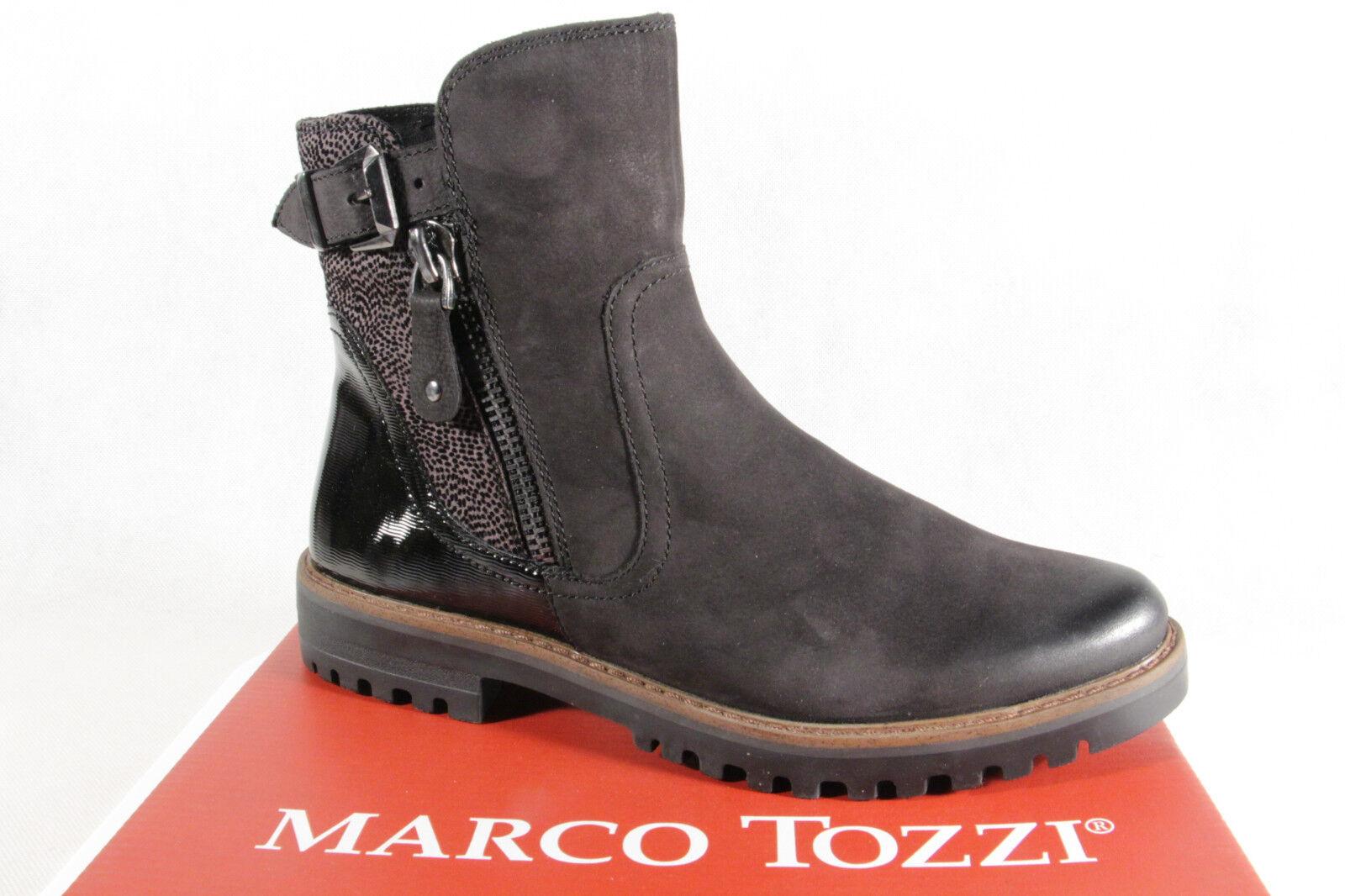 Marco Tozzi Stiefelette Stiefel, schwarz, Leder 25450 NEU