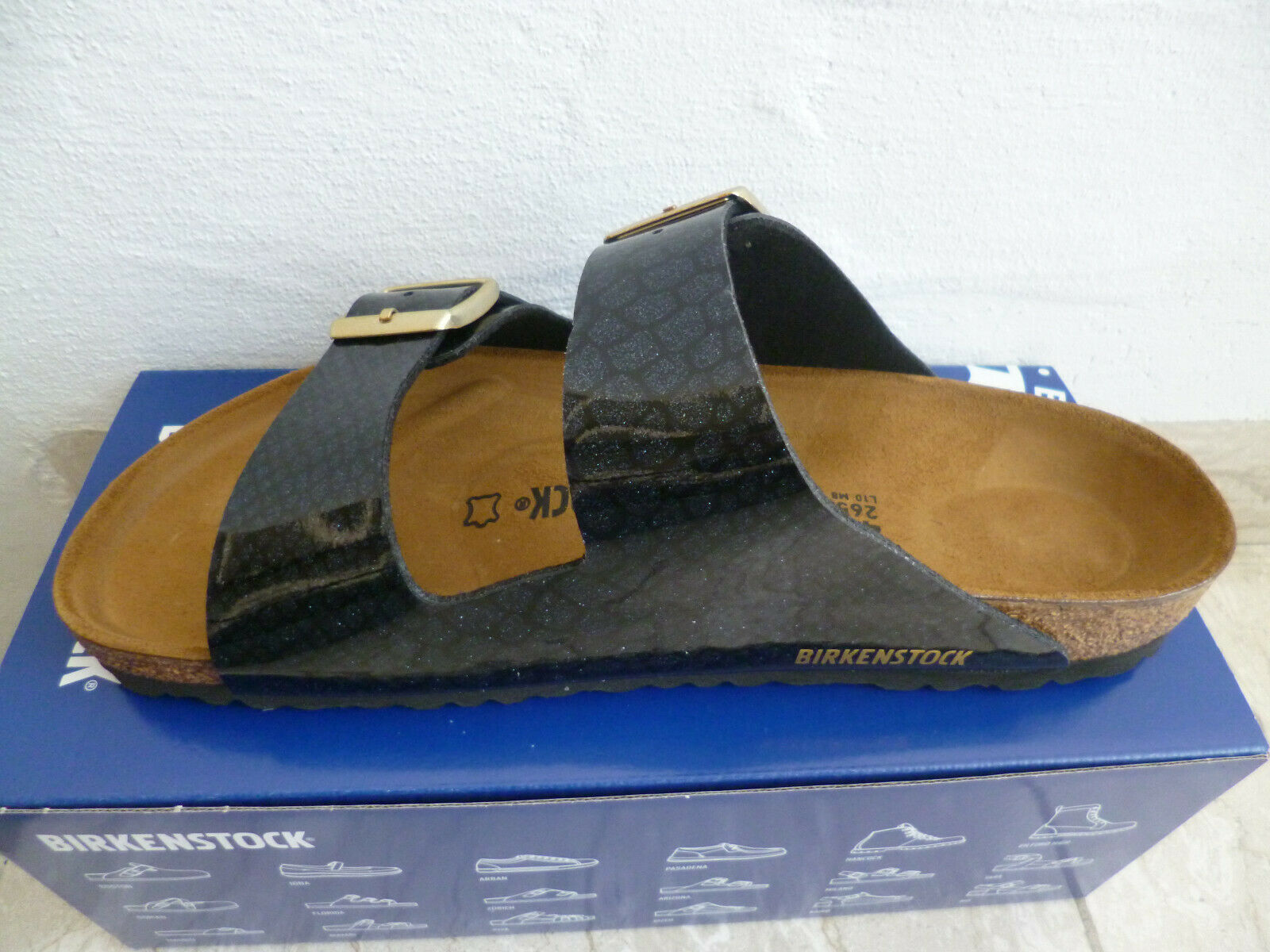 Birkenstock Arizona Pantolette Sandale Hausschuh Magic Snake Black 1009124 NEU!