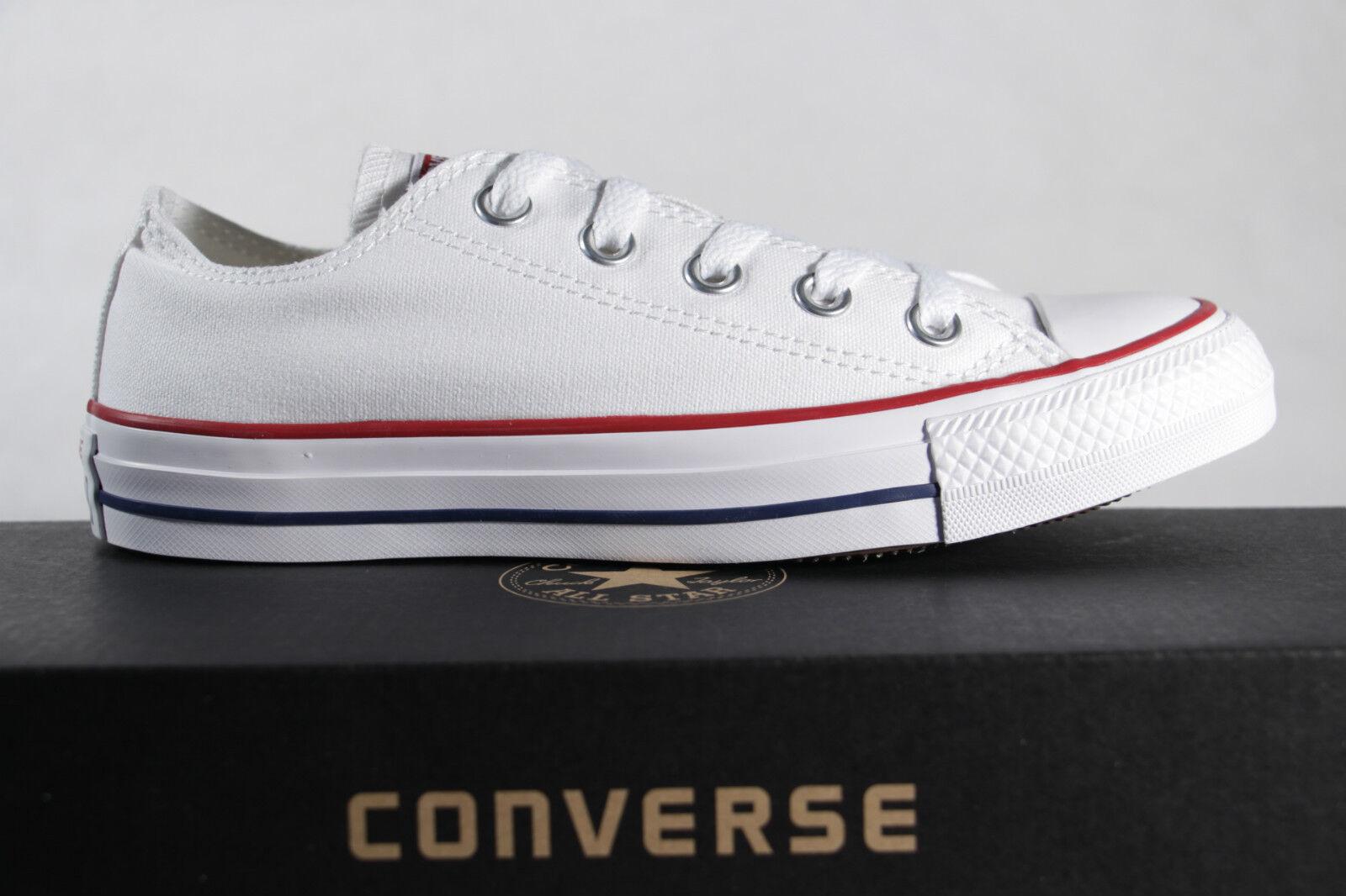 Converse All Star Schnrschuhe Sneakers Weiss Textil Leinen Stars M7652c Neu