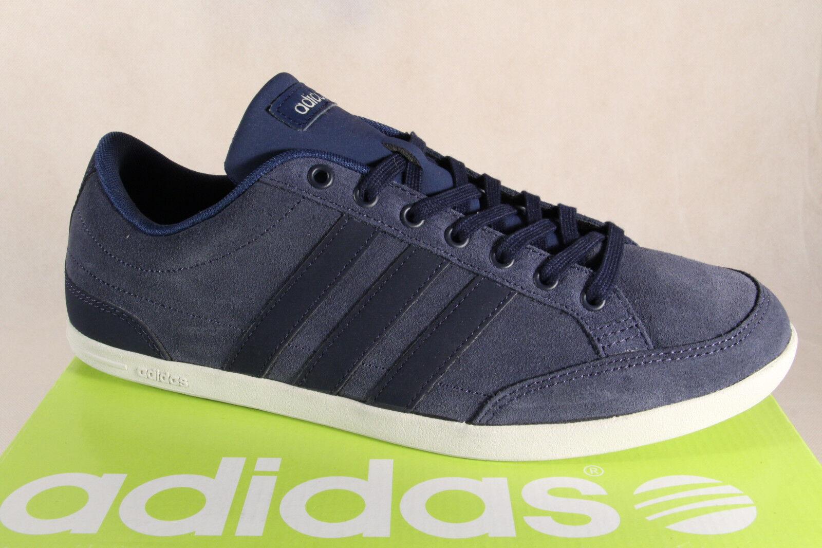 Adidas Schnürschuhe Turnschuhe Halbschuhe Sportschuhe CAFLAIRE Leder blau NEU