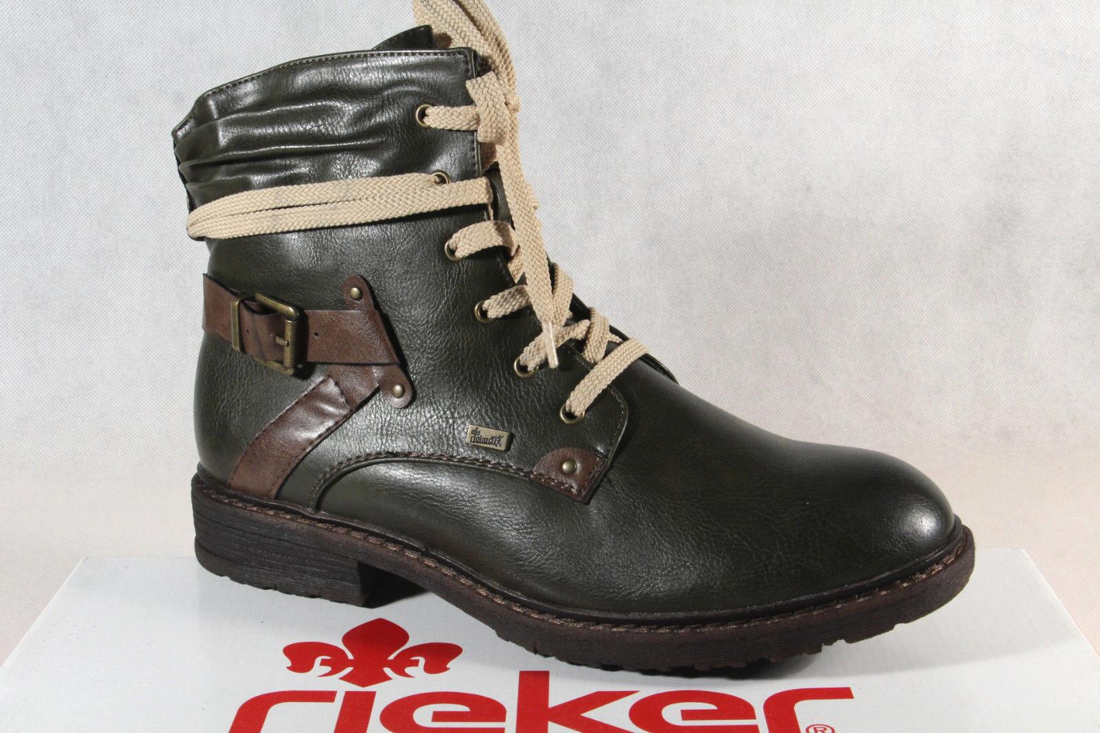 Rieker Tex Schnürstiefel Boots Stiefelette Stiefel grün U38Io