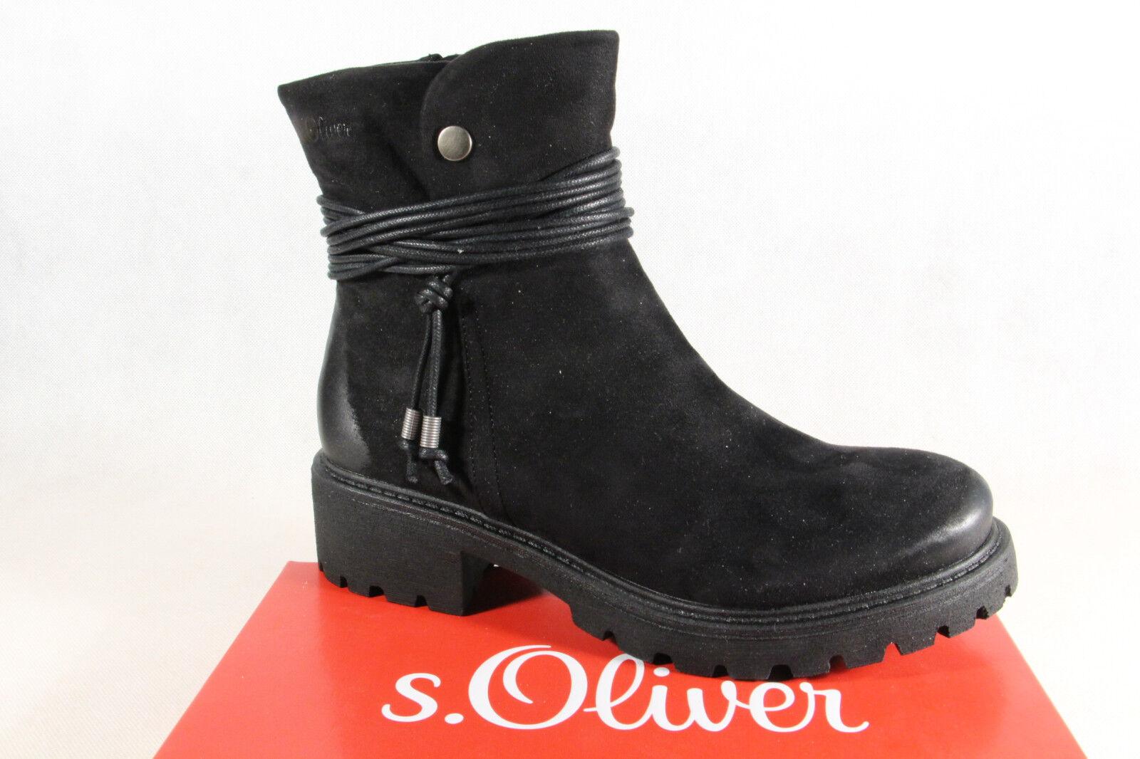 S.Oliver Damen Stiefel Stiefeletten Winterstiefel Boots schwarz 26412   NEU!