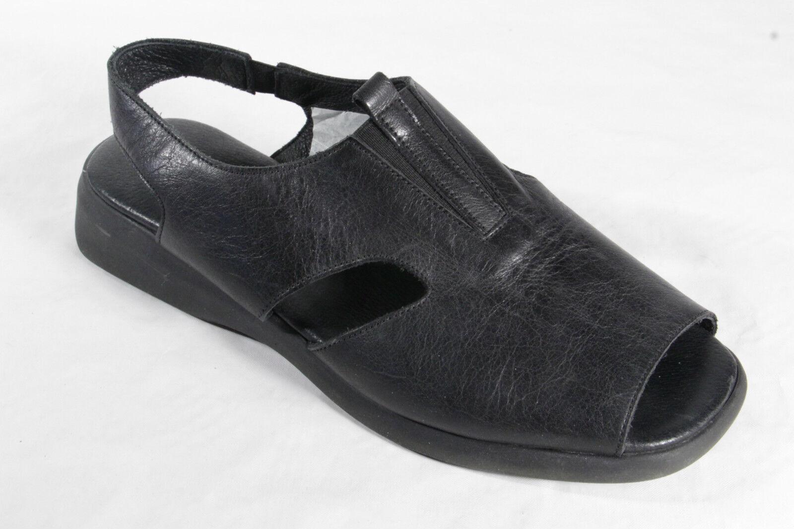 Manas Damen Sandalen Sandaletten Echtleder schwarz NEU NEU schwarz   d99fb0