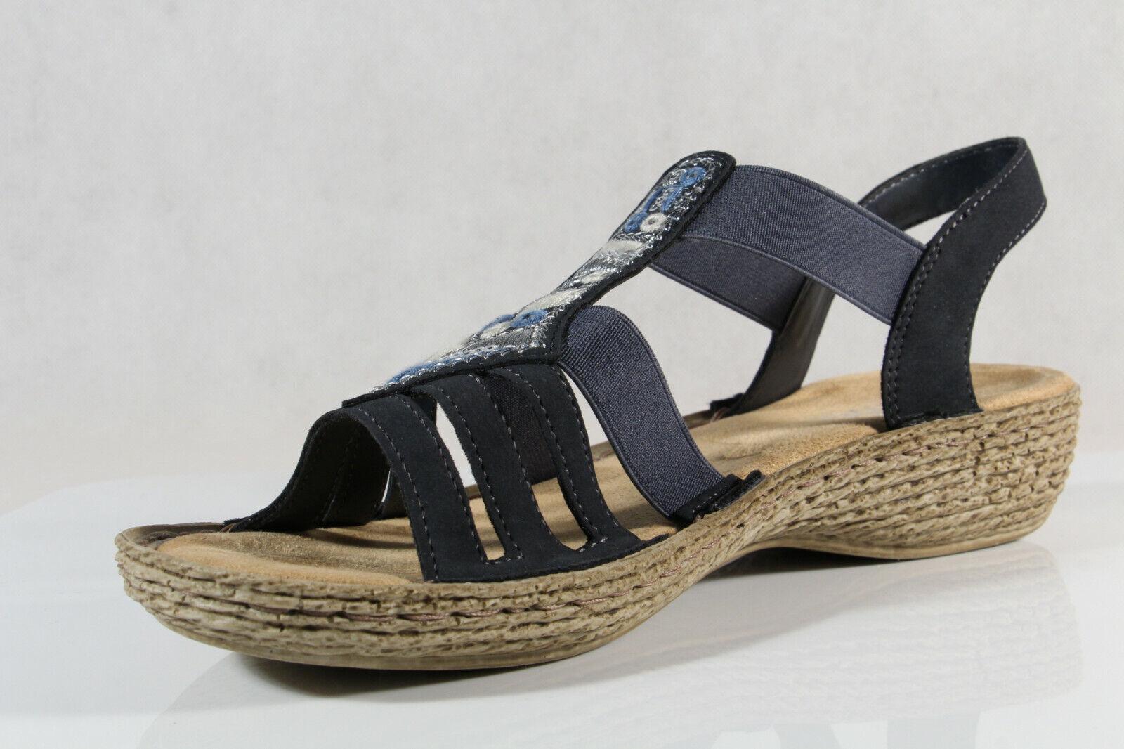 Rieker Damen Sandalen Sandaletten Sandaletten Sandaletten Sandale blau 65807 NEU   4cb7c2