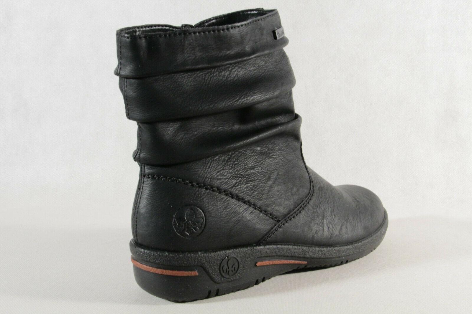 Rieker TEX Damen Stiefel Stiefeletten Schnürstiefel Boots schwarz Z1693 NEU!