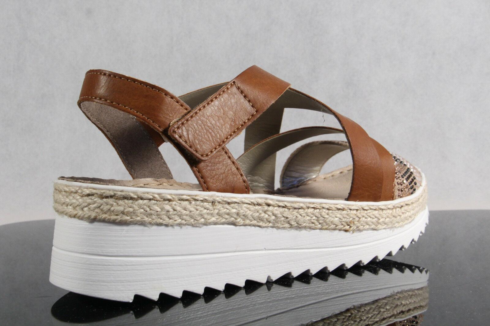 Rieker Damen Sandale Sandalette Sandalen Sandaletten braun udx1V