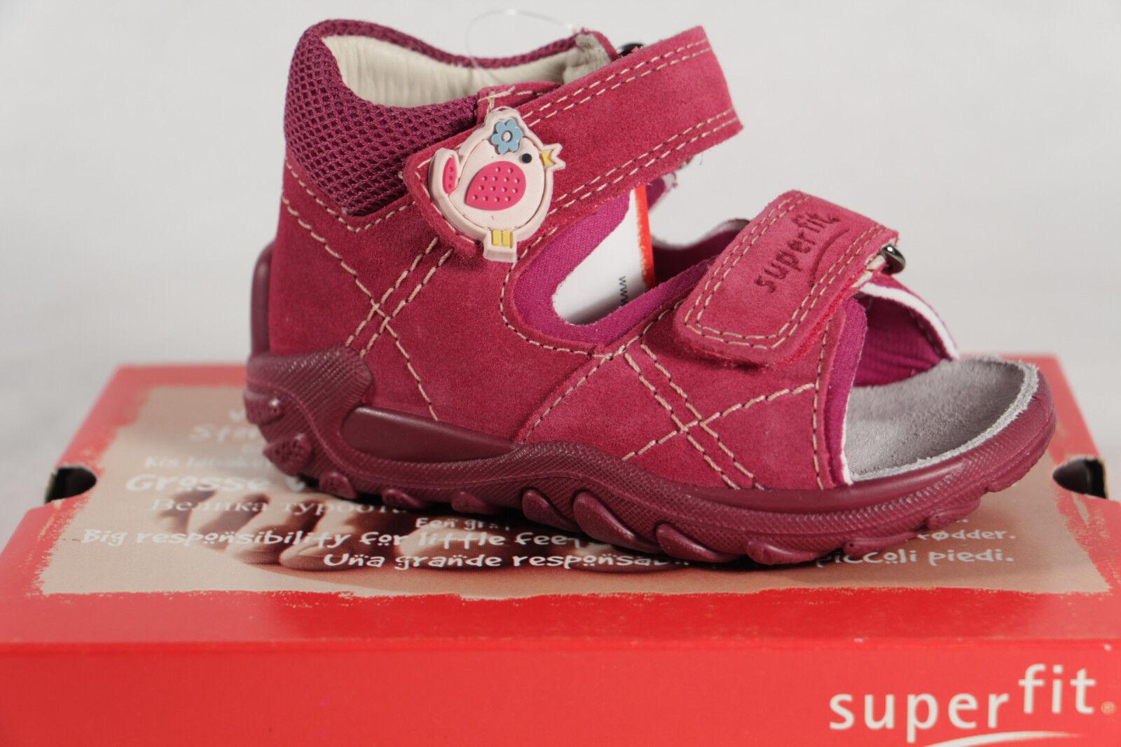 Superfit Mädchen Lauflern Sandale Sandalette Echtleder Rosa Neu