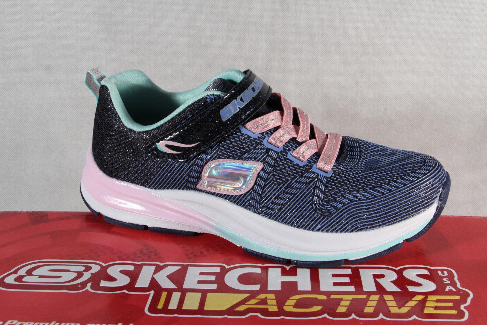 info for 74be3 628ea Skechers Sneaker Schnürschuh Sportschuh blau/ rosa Memory Foam NEU