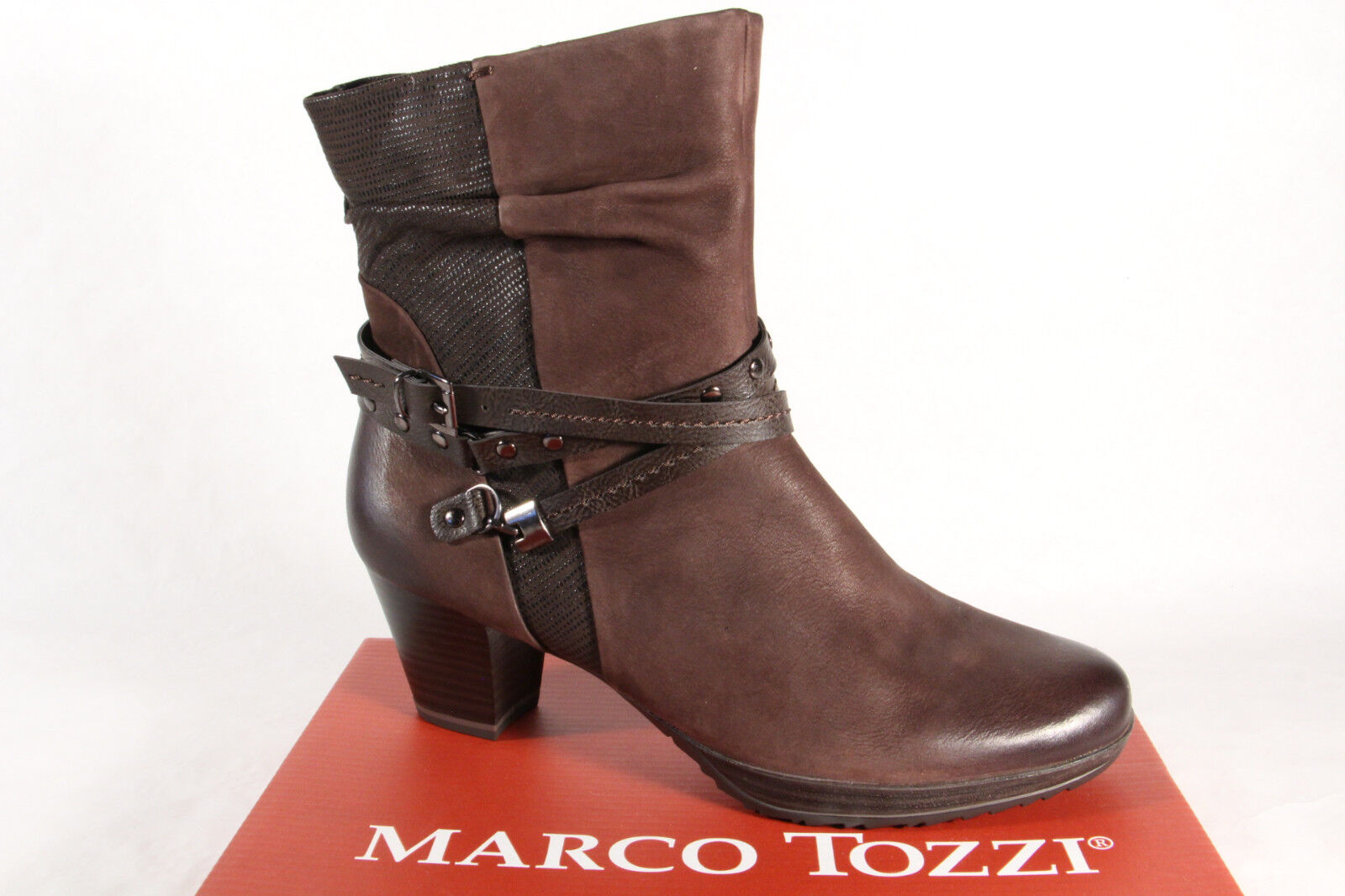 brand new 6063a 5a3a8 Marco Tozzi Damen Stiefel 25421 Stiefelette Boots Echtleder braun NEU!