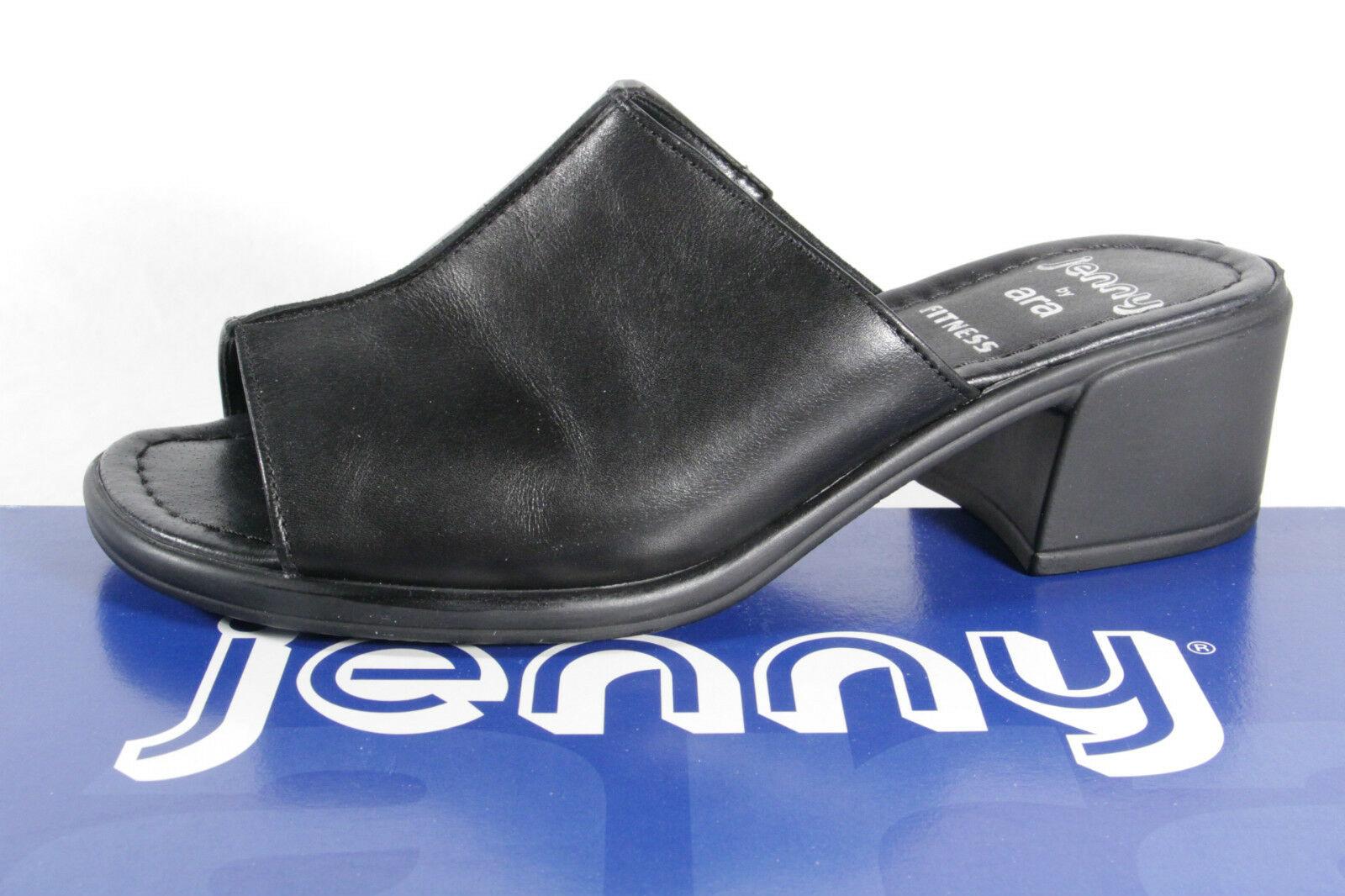 Jenny by Ara Damen Pantoletten Sandalen Echtleder schwarz NEU